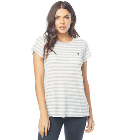 Fox Striped Out SS Crew Women white